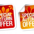 Autumn offer stickers. — Stock Vector