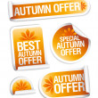 Autumn offers stickers. — Stock Vector