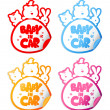 Baby in car stickers. — Stock Vector #14206411