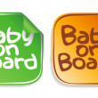 Royalty-Free Stock Vector Image: Baby on board stickers.