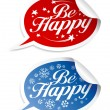 Be Happy stickers — Stock Vector