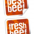 Best beef stickers — Stock Vector