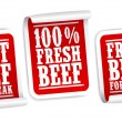 Beef for steak stickers — Stock Vector