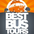 Vector de stock : Best bus tour design template.
