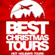 Best Christmas tours design template. — Stockvektor