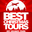 Best Christmas tours design template. — Stock vektor