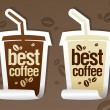 Best coffee stickers. — Vector de stock
