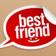 Best friend stickers. - Stock Vector