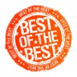 Best of the best stamp. — Stock Vector