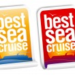 Best sea cruise stickers - Stock Vector