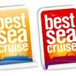 Best sea cruise stickers — Stock Vector