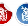 Best service stickers. - Stock Vector