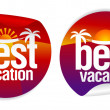 Best vacation labels. — Imagen vectorial