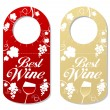 Tag for bottle of wine. — Stock Vector