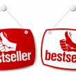 Vector de stock : Bestseller signs.