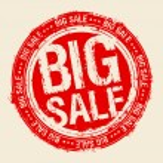 Big sale stamp. — Stock Vector