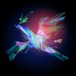 Abstract laser flying bird design. — Stock Vector #14206642