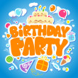 Stock Vector: Birthday Party design template.