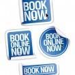 Book now stickers. - Stock Vector