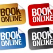 Stock Vector: Book online stickers.