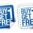 Vector de stock : Promotional sale stickers.