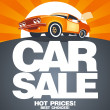 Car sale design template. - Stok Vektör