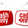 Cash only signs. — Stockvectorbeeld
