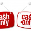 Stock Vector: Cash only signs.