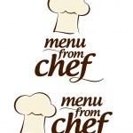 厨师图标的菜单 — 图库矢量图片