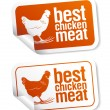 Stock Vector: Best chicken meat stickers