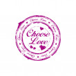 Vector de stock : Choose love stamp