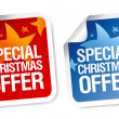 Stock Vector: Special Christmas offer stickers.