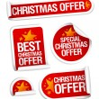 Stock Vector: Best Christmas offers stickers.