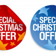 Special Christmas offer stickers. — Stock Vector #14206867