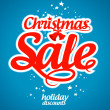 Christmas sale design template. — Stock Vector #14206868