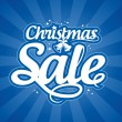 Christmas sale design template. — Stok Vektör