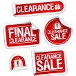 Final clearance sale stickers. — Stock Vector #14206884