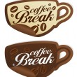 Coffee Break stickers. — Stock Vector