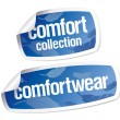 Comfort wear stickers - Stock Vector