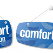 Royalty-Free Stock Vector Image: Signs for comfort collection