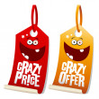 Stock Vector: Crazy sale labels.