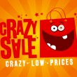 Stock Vector: Crazy sale banner.