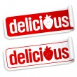 Delicious stickers. — Stock Vector