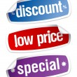 Stickers for discount sales. - Imagen vectorial