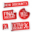 Best discount sale stickers. — Stock Vector