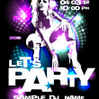 Party design template. - Stockvectorbeeld