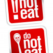 No eating sign. - Stock Vector