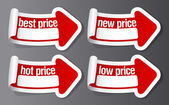 Best price stickers. — Stock Vector