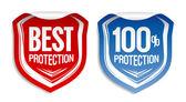 Nejlepší ochrany samolepky. — Stock vektor