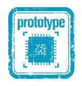 Prototype rubber stamp — Stock Vector